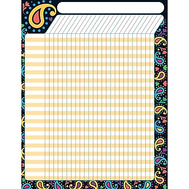 Trend Enterprises® Perfectly Paisley Large Incentive Chart, 17