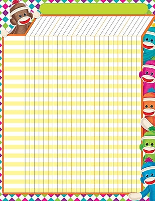 Trend Enterprises® Sock Monkeys Large Incentive Chart, 17