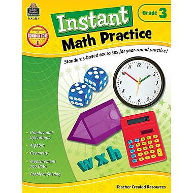 Teacher Created Resources Instant Math Practice Book, Grade 3 (TCR2553)