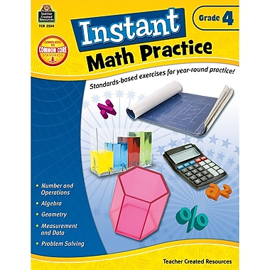 Teacher Created Resources Instant Math Practice Book, Grade 4 (TCR2554)