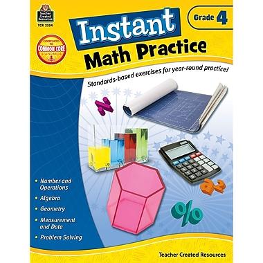 Teacher Created Resources Instant Math Practice Book, Grade 4