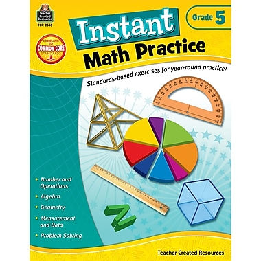 Teacher Created Resources Instant Math Practice Book, Grade 5 (TCR2555)