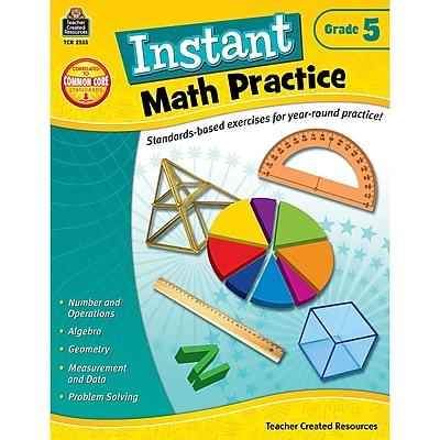 Teacher Created Resources Instant Math Practice Book, Grade 5