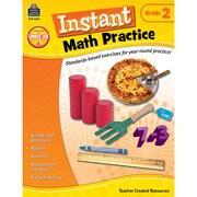 Teacher Created Resources Instant Math Practice Book, Grade 2