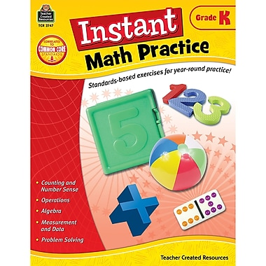 Teacher Created Resources Instant Math Practice Book, Grade K (TCR2747)