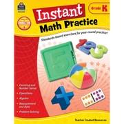 Teacher Created Resources Instant Math Practice Book, Grade K