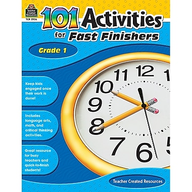 Teacher Created Resources 101 Activities For Fast Finishers Activity Book, Grade 1 (TCR2936)
