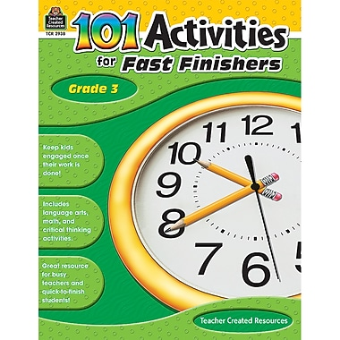 Teacher Created Resources 101 Activities For Fast Finishers Activity Book, Grade 3 (TCR2938)