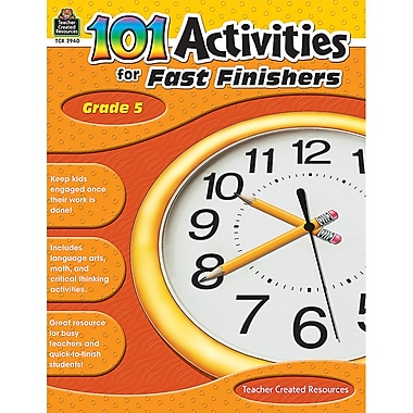 Teacher Created Resources 101 Activities For Fast Finishers Activity Book, Grade 5 (TCR2940)