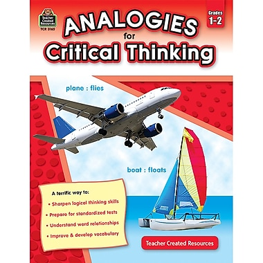 Teacher Created Resources TCR3165 Analogies For Critical Thinking Book, Grade 1 - 2