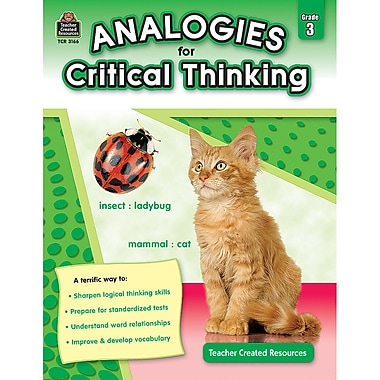 Teacher Created Resources Analogies For Critical Thinking Book, 3 Grade