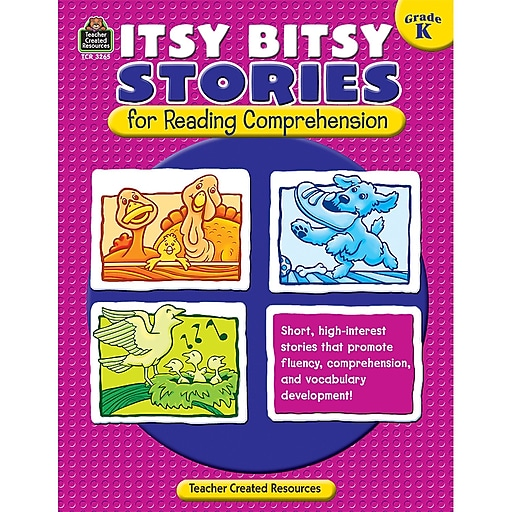 Teacher Created Resources Itsy Bitsy Stories For Reading Comprehension Book, Grades K