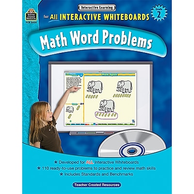 Teacher Created Resources Interactive Learning: Math Word Problems Book, Grade 2