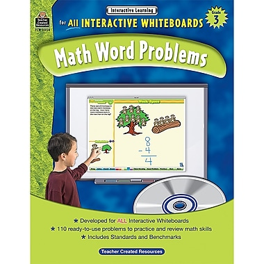 Teacher Created Resources Interactive Learning: Math Word Problems Book, Grade 3