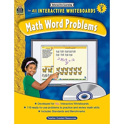 Teacher Created Resources Interactive Learning: Math Word Problems Book, Grade 5