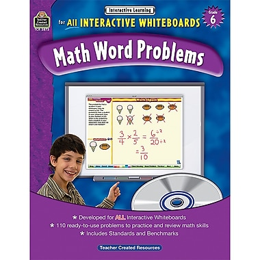 Teacher Created Resources Interactive Learning: Math Word Problems Book, Grade 6