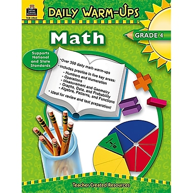 Teacher Created Resources Daily Warm-Ups: Math Resource Book, Grades 4