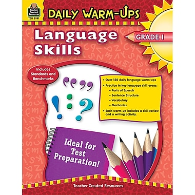 Teacher Created Resources Daily Warm-Ups: Language Skills Book, Grades 1