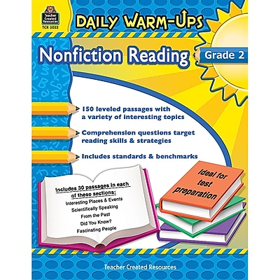 Teacher Created Resources Daily Warm-Ups Nonfiction Reading Activity Book, Grade 2