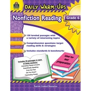 Teacher Created Resources Daily Warm-Ups Nonfiction Reading Activity Book, Grade 6