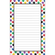 "Teacher Created Resources 5"" x 8"" Notepad, Colorful Paw Prints"