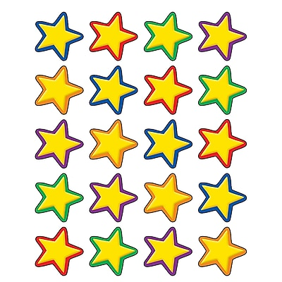Teacher Created Resources Stickers, Yellow Stars, 120/Pack