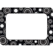 "Teacher Created Resources Name Tag, 3 1/2"" x 2 1/2"", Black/White Crazy, 36/Pack (TCR5169)"