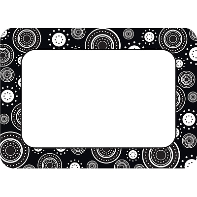 Teacher Created Resources Infant - 12 Grade Name Tag, Black/White Crazy, 36/Pack