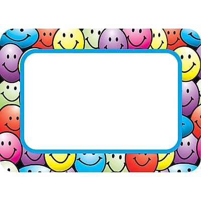 Teacher Created Resources Infant - 6 Grade Name Tag, Happy Faces, 36/Pack