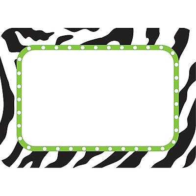Teacher Created Resources Infant - 12 Grade Name Tag, Zebra, 36/Pack