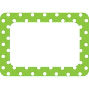 Teacher Created Resources Preschool - 8 Grade Name Tag, Lime Polka Dots 2
