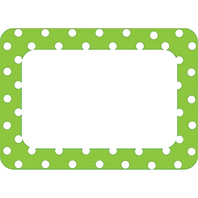 Teacher Created Resources® Name Tag, Lime Polka Dots 2, 36/Pack