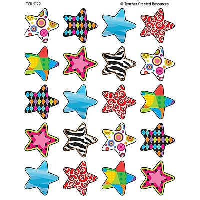 Teacher Created Resources Stickers, Fancy Stars, 120/Pack