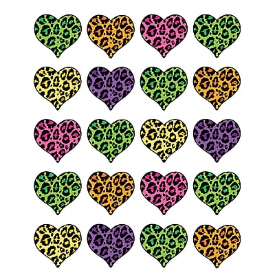 Teacher Created Resources Stickers, Leopard Print Heart, 120/Pack