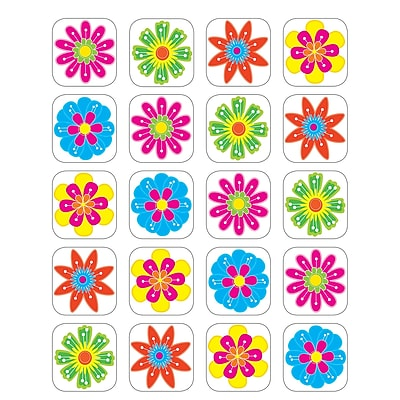 Teacher Created Resources Stickers, Fun Flowers, 120/Pack