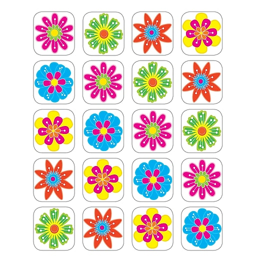 Teacher Created Resources Fun Flowers Stickers, Pack of 120 (TCR5201)