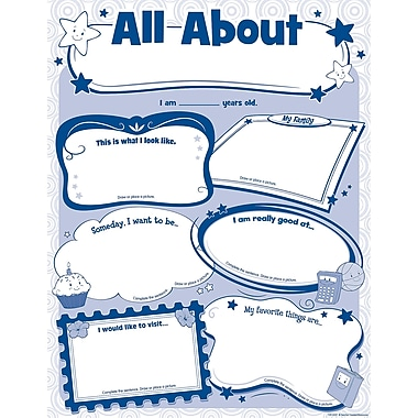 Teacher Created Resources All About Me Poster Pack, Social Studies
