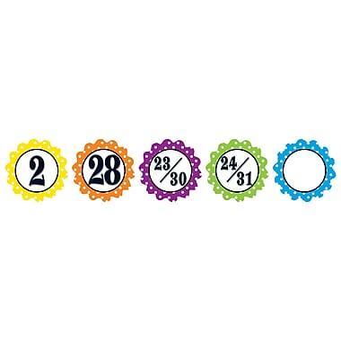 Teacher Created Resources Days Calendar, Polka Dot Flowers