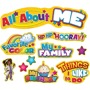 Teacher Created Resources Mini Bulletin Board Display Set, All About Me, 33/Set (TCR5334)