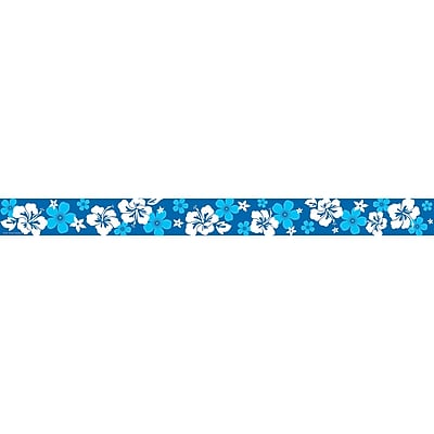Teacher Created Resources Grade Toddler - 12 Hibiscus Straight Border Trimmer, Blue, 12/Pack