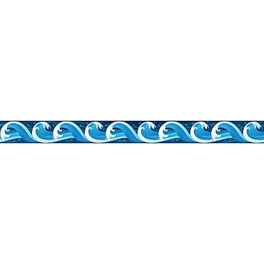 Teacher Created Resources Grade Toddler - 12 Ocean Waves Straight Border Trimmer, Blue