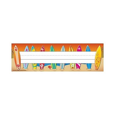 Teacher Created Resources Toddler - 6 Grade Flat Name Plate, Surf's Up, 36/Pack