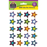 Teacher Created Resources Stickers, Fancy Stars 2 Valu-Pak, 260/Pack (TCR5365)