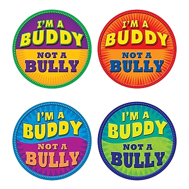 Teacher Created Resources I'm a Buddy Not A Bully Wear'Em Badge, 32/Pack