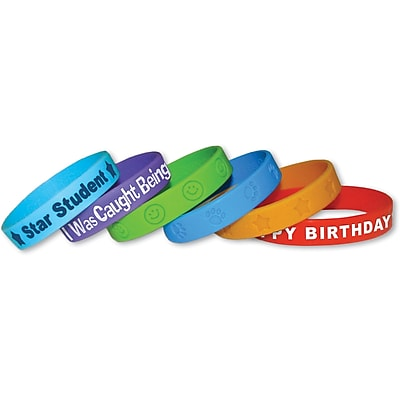 Teacher Created Resources Assorted Wristbands Pack, 24/Pack