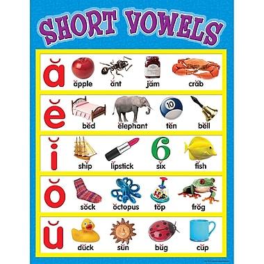 Teacher Created Resources Short Vowels Chart, Language Arts