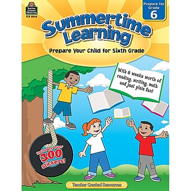Teacher Created Resources Summertime Learning Book, Grade 6 (TCR8846)