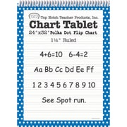 "Top Notch Teacher Products® 1 1/2"" Ruled Polka Dot Tablet Flip Chart, Blue"