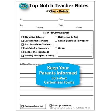 Top Notch Teacher Products® Check Points Notes