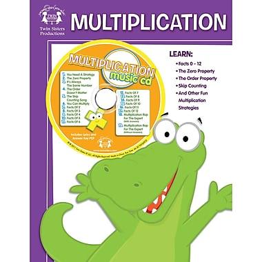 Twin Sisters Multiplication Workbook and CD